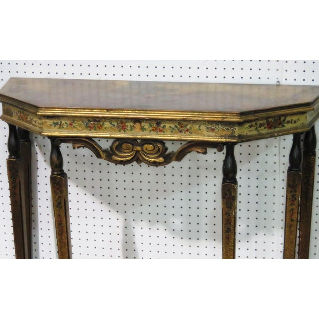 Italian Early 20th C. Venetian Style Console Table & Mirror For Sale - Image 3 of 5