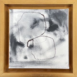 """""""Abstract I"""" Contemporary Abstract Expressionist Mixed-Media Painting, Framed For Sale"""