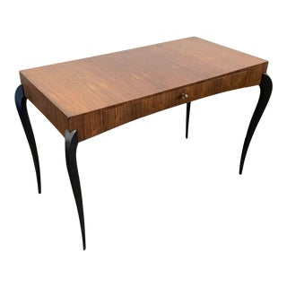 French or Italian Art Deco Rosewood Writing Desk, Circa 1940's For Sale