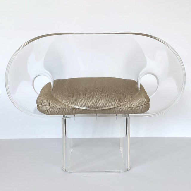 1970s Robert Van Horn Lucite Ribbon Lounge Chair, Signed For Sale - Image 11 of 13