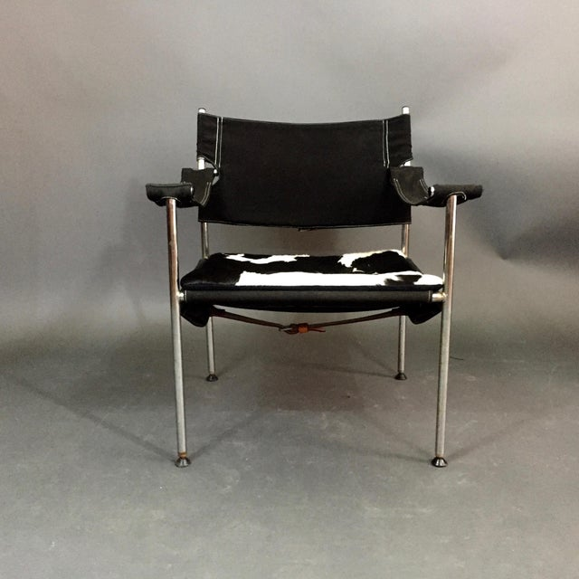 Designed by Sigurd Resell & Cato Mansrud for Anders Grasaasen's Fabrikker in Norway, circa 1965. The chair has a flexible...