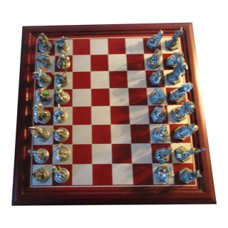 """Danbury Mint """"Fantasy of the Crystal"""" Chess Set For Sale"""