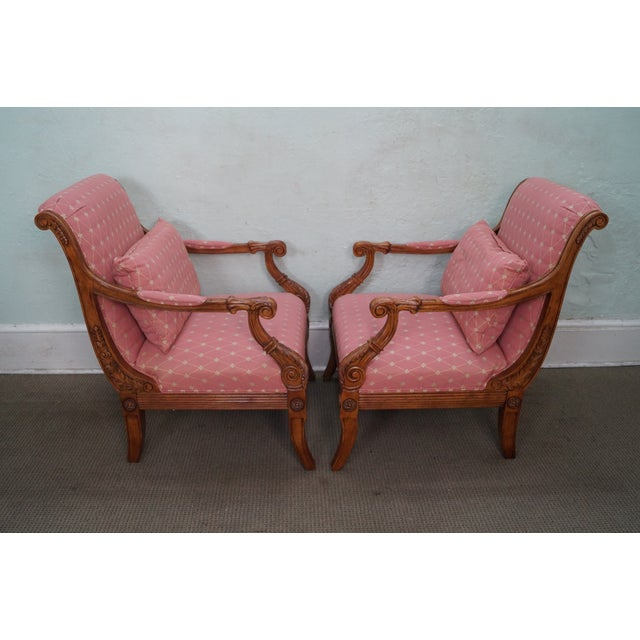 French Empire Regency Arm Chair Fauteuils - Pair - Image 3 of 10