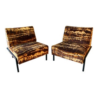 Vintage Mid Century Large Dunbar Style Slipper Chairs- a Pair For Sale