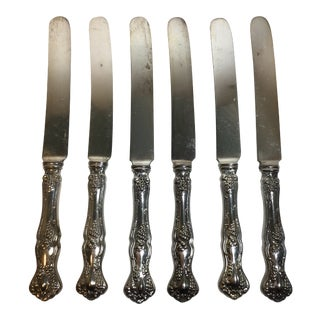 1881 Rogers Bros Silver-Plate Dinner Butter Knives - Set of 6 For Sale