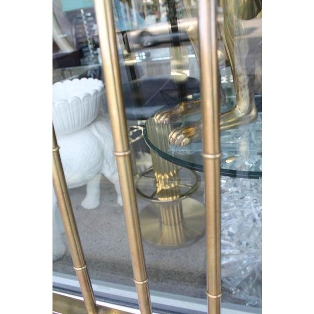 Metal Mastercraft Greek Key Brass King Size Headboard For Sale - Image 7 of 9