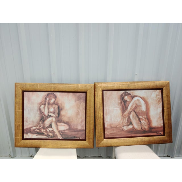 2010s Figurative Painting Prints - Set of 2 For Sale - Image 5 of 5