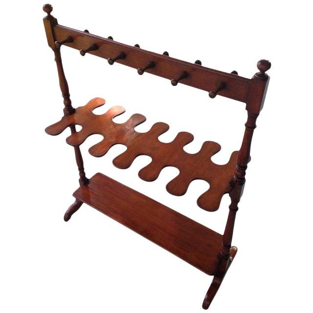English Mahogany Hall Boot Rack For Sale