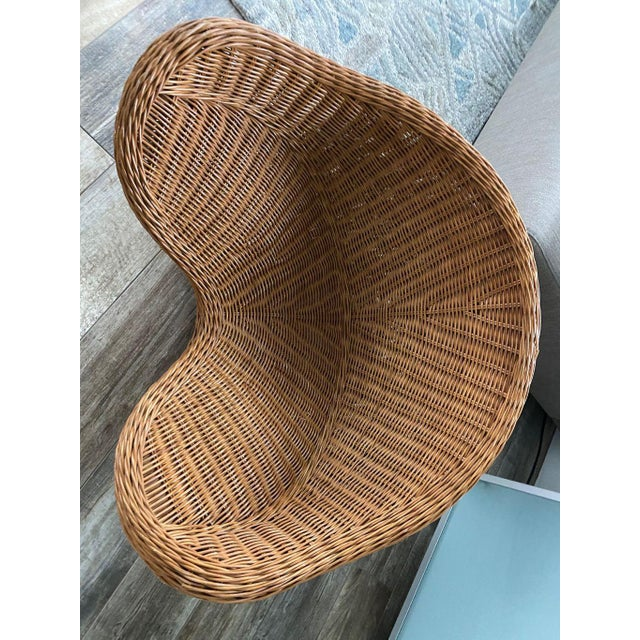 1950s 1950s Mid Century Modern Wicker Chair For Sale - Image 5 of 9