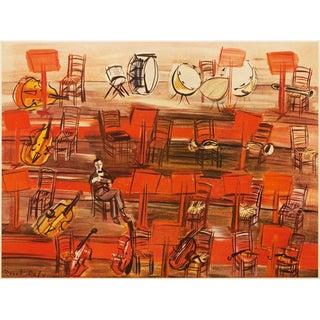 1950s Raoul Dufy Intermission Lithograph For Sale