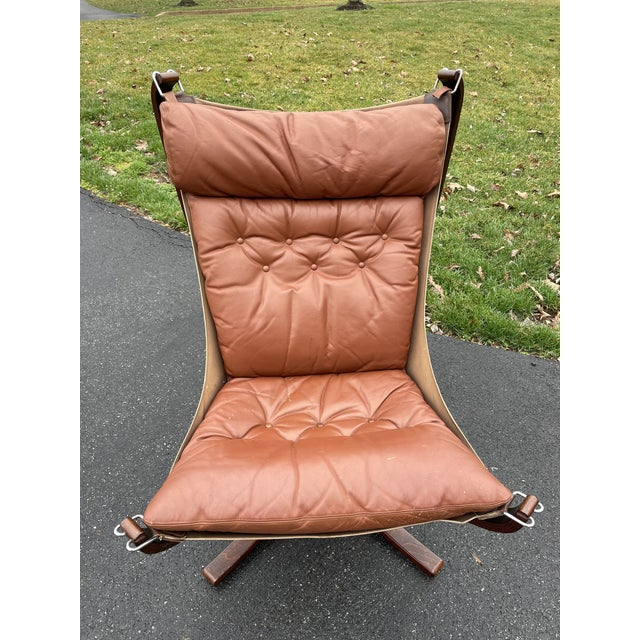 Mid-Century Modern Mid 20th Century Vatne Mobler Tall Falcon Chair For Sale - Image 3 of 8