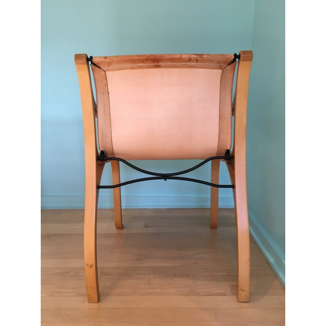 Saddle Leather 'Chair B' by Cristian Valdes For Sale - Image 4 of 7