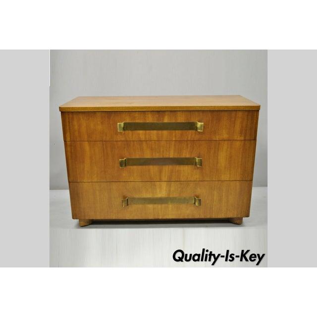 John Stuart Mid Century Modern Art Deco Birch Dresser For Sale - Image 13 of 13