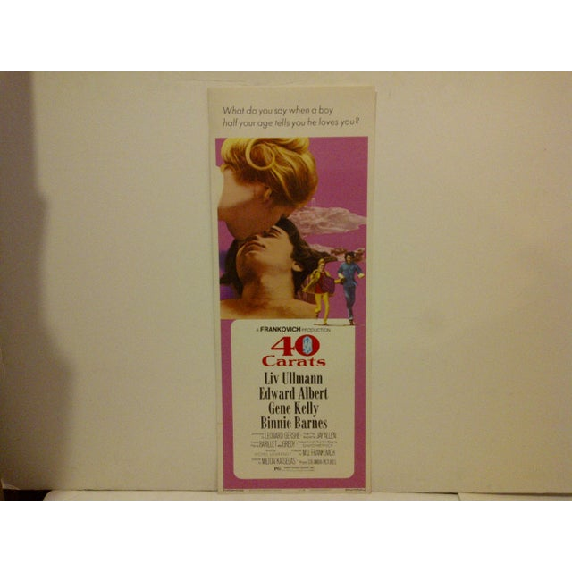 """A Vintage Movie Poster -- """"40 Carats"""" -- Starring -- Liv Williams -- 73/126 -- Copyright 1973 -- Columbia Pictures -- The..."""