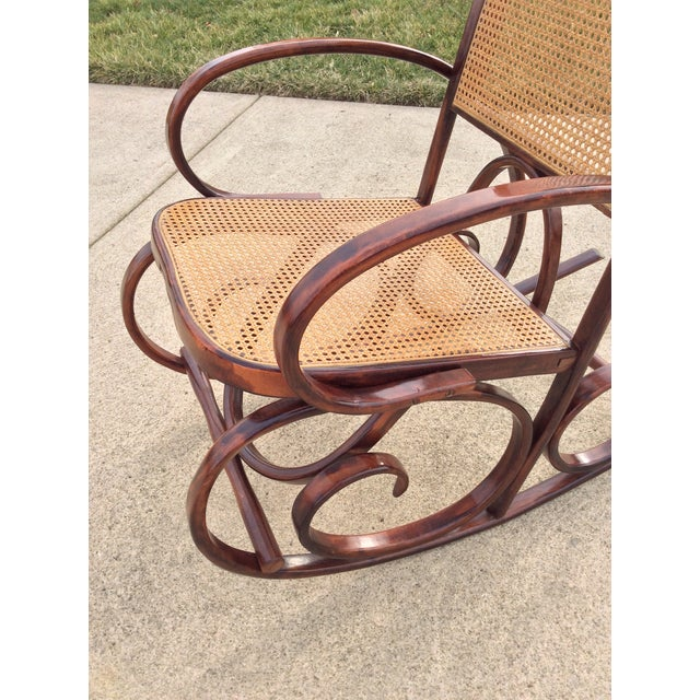 Mid Century Luigi Crassevig Thonet Style Bentwood Rocker For Sale - Image 9 of 12