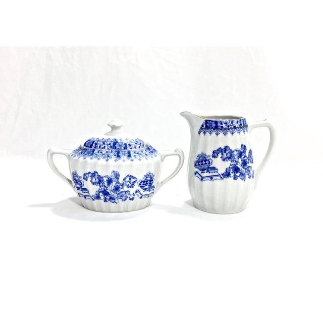 Blue Antique Chinoiserie Dessert Set, 44 Pcs. For Sale - Image 8 of 13