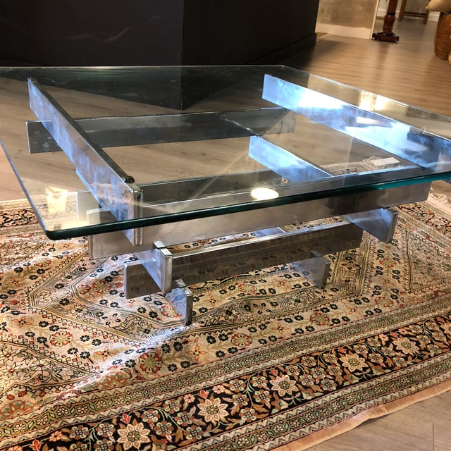 Metal Paul Meyen Stacked Coffee Table 1970 For Sale - Image 7 of 7