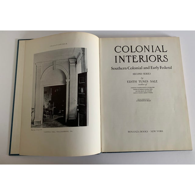 Colonial Interiors Hardcover Book For Sale - Image 4 of 13