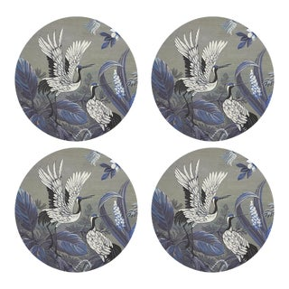 "Summer Palace Sybil, 16"" Round Pebble Placemats, Set of 4 For Sale"
