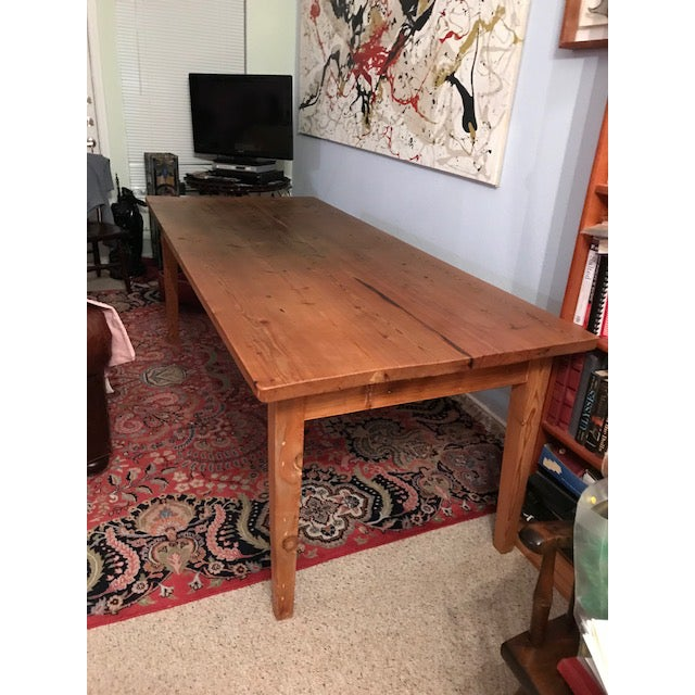 Antique Pine Farm French Table For Sale - Image 13 of 13