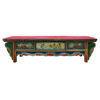 Chinese Vintage Floral Altar Table