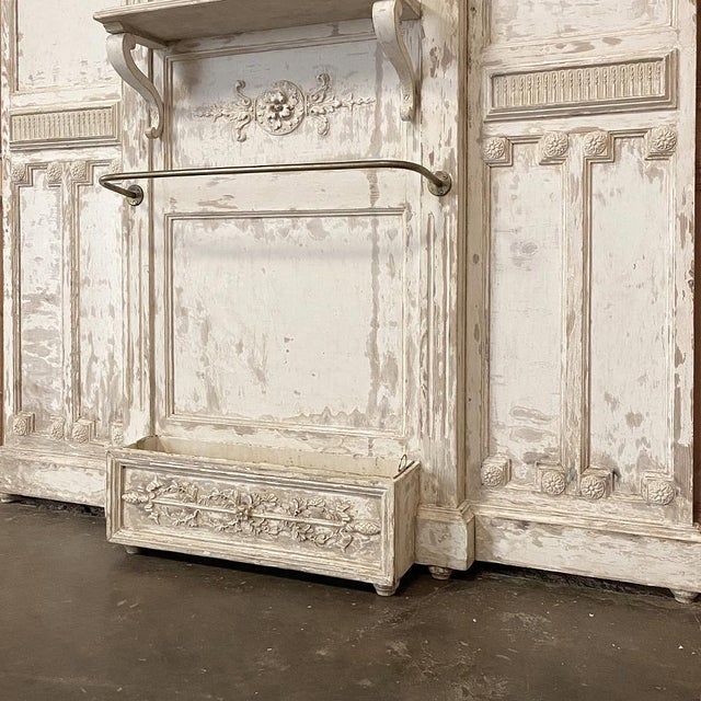 Eggshell 19th Century French Louis XVI Painted Hall Tree For Sale - Image 8 of 11