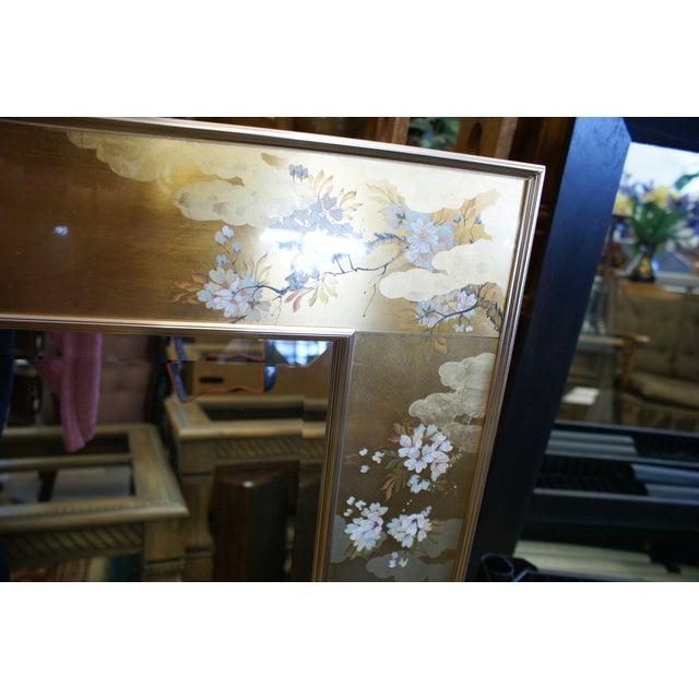 Mid 20th Century Large La Barge Eglomise Gold Beveled Mirror For Sale - Image 5 of 13