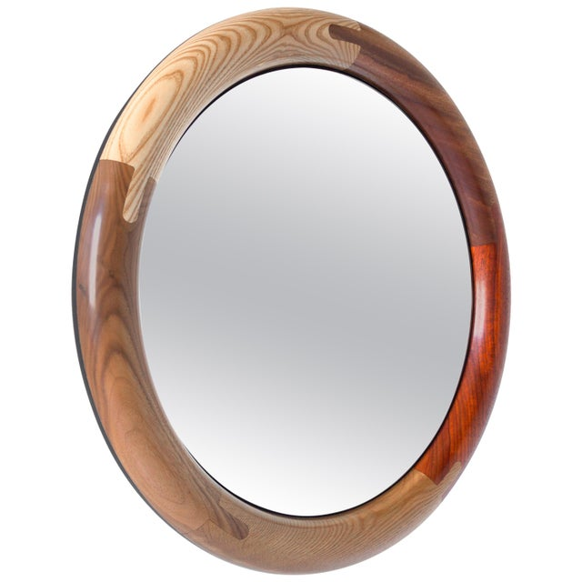 Halo Round Birnam Wood Studio Mirror For Sale - Image 10 of 10