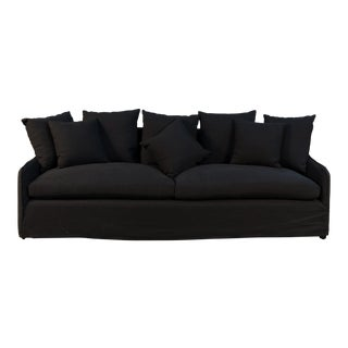 Transitional Sarreid Ltd. Capulet Black Frost Sofa For Sale