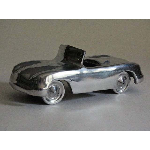 Silver Stylized 1950's Chrome Roadster For Sale - Image 8 of 8