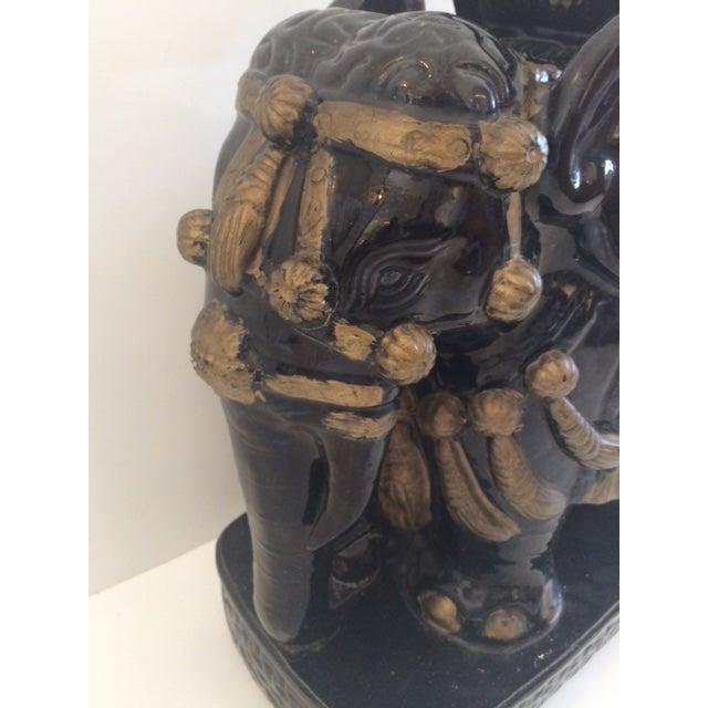 Vintage Black Ceramic Garden Stool For Sale - Image 4 of 8