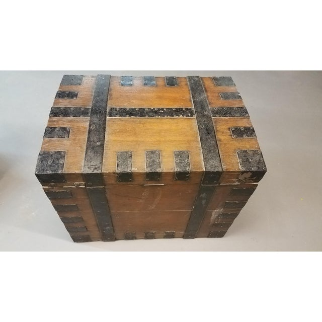 Late 1800s Oak Silver Trunk For Sale - Image 11 of 13