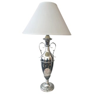 A Sleek American Art Deco Nickel-Plated Urn-Form Lamp For Sale