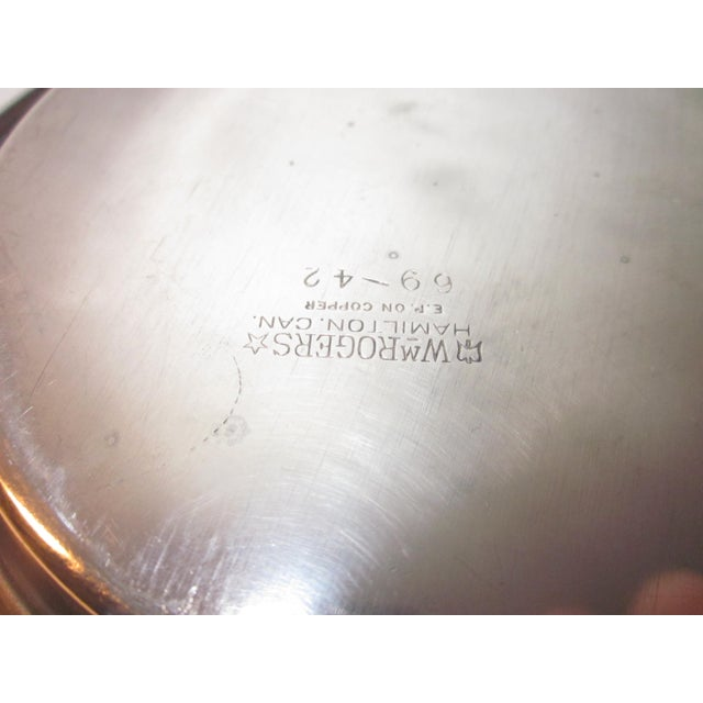 20th Century Traditional Silverplate Salver For Sale In Washington DC - Image 6 of 7