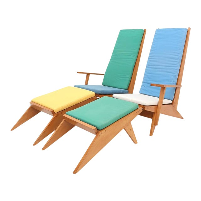 1970s Swimming Pool Lounge Chairs - a Pair For Sale