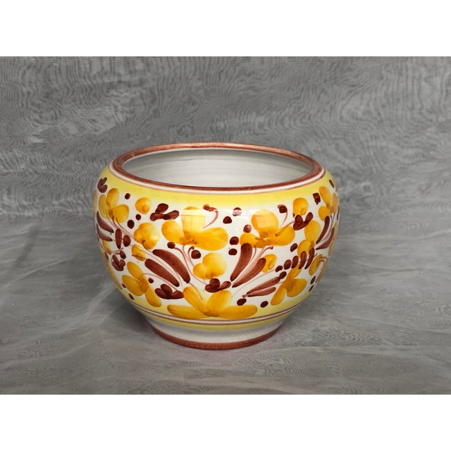 Vintage Italian Ceramic Pottery Indoor Planter For Sale In New York - Image 6 of 13