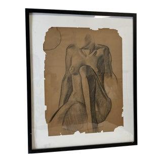 1937 Drawing of Female Figure, Artist William Richardson Miller For Sale