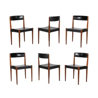 1950s Danish Modern Moller Dining Chairs - Set of 6 For Sale