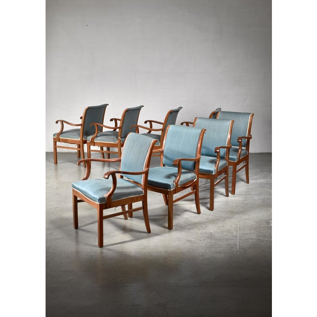 Mid-Century Modern Fritz Hansen Set of 20 Conference Chairs, Denmark, 1940 For Sale - Image 3 of 4