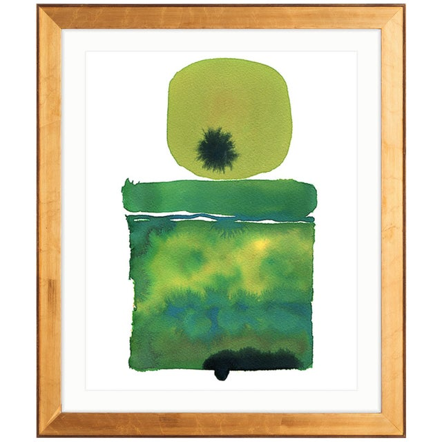 Zoe Bios Creative, Classic Brights - Jade Shelf Abstract Framed Print - Image 1 of 4