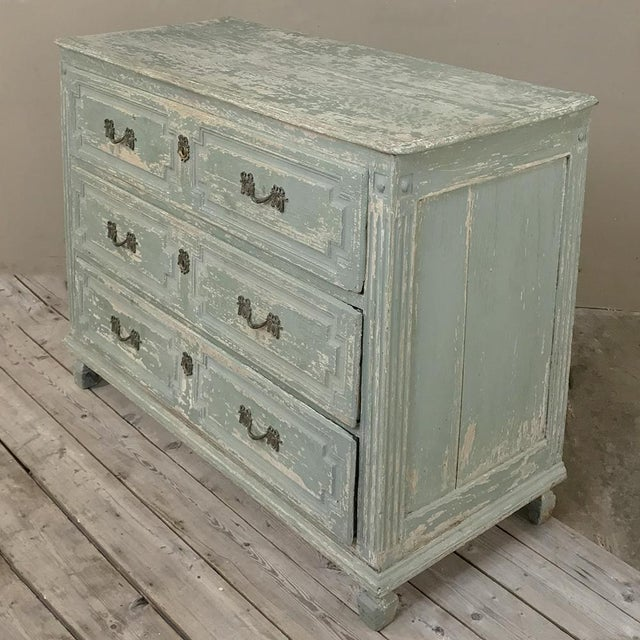 18th Century Country French Painted Commode For Sale - Image 4 of 13