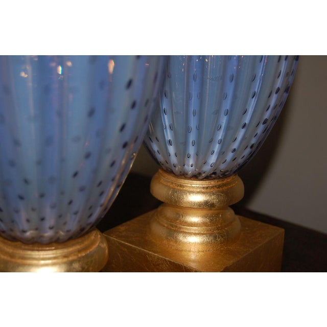 Vintage Murano Opaline Glass Table Lamps Lavender For Sale In Little Rock - Image 6 of 10