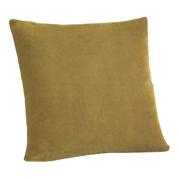 Mustard Velvet Down Pillow - Image 1 of 3