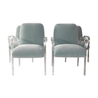 1970's Lucite Dining Chairs - Set of 4