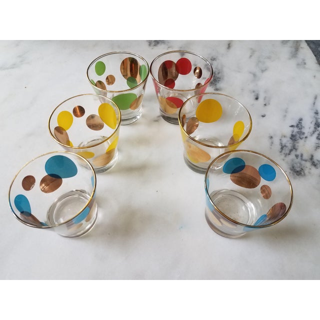 Russel Wright Mid-Century Eclipse Gold Cocktail Glasses - Set of 6 - Image 10 of 10