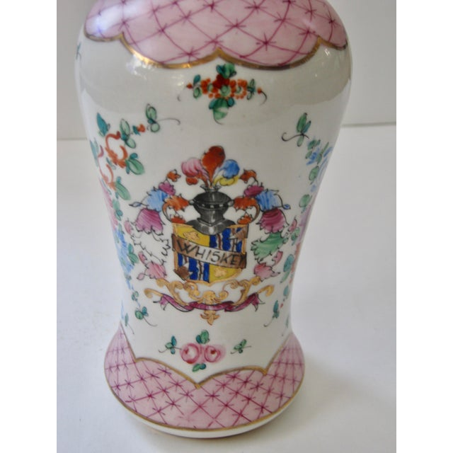 Rustic European Antique Early 20th Century Porcelain Whiskey Decanter For Sale - Image 3 of 7