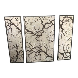 Custom Fabric Panels Triptych For Sale