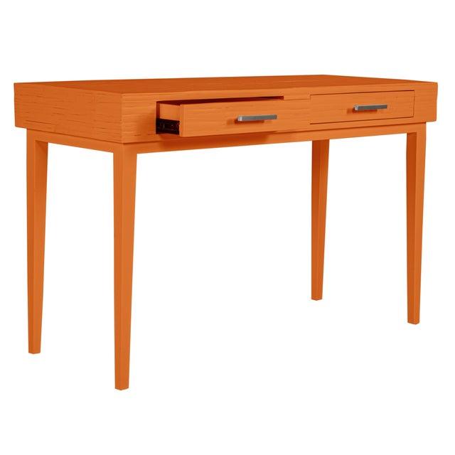 Athena Desk in Citrus Orange For Sale In West Palm - Image 6 of 8