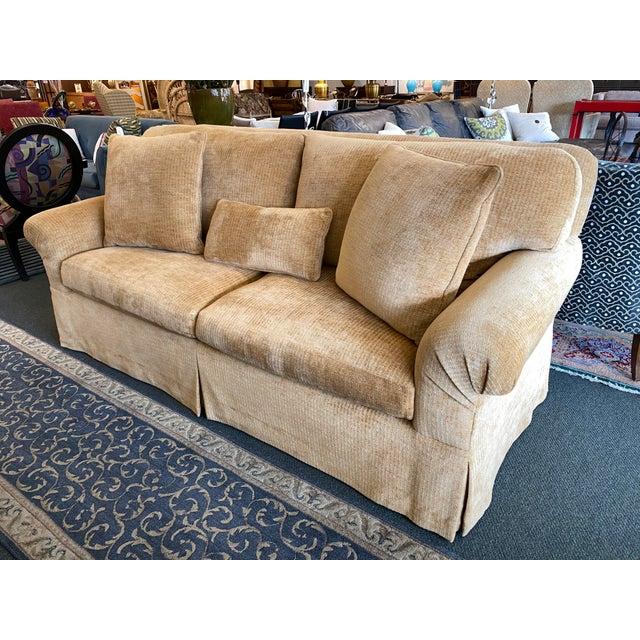 Design Plus Gallery presents a Custom Belmar Sofa. Custom made by Belmar Studio in San Francisco. Fill consists of down...