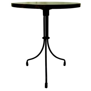 New Round Folding Bistro Table With Wood Top & Iron Base For Sale